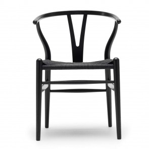 CH 24 Wishbone Chair, schwarz