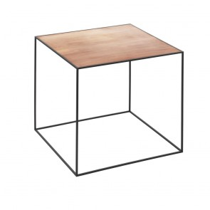 Twin Table, schwarz/kupfer